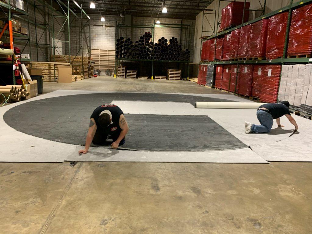 Trade Show Floor Installation