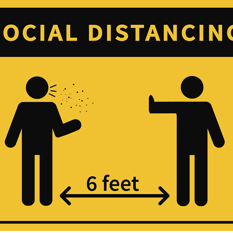 Long Lasting Social Distancing Signs | Social Distancing Floor Decals | The Inside Track